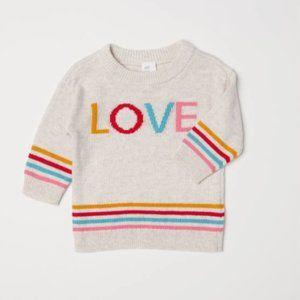 H&M Fine-Knit LOVE Sweater | 1½-2Y